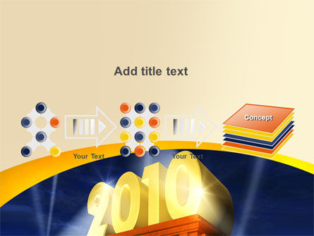 2010 yr PowerPoint Template Slide 9