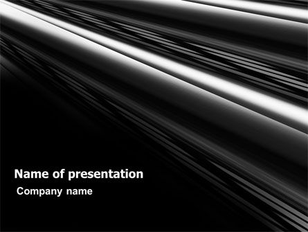 Abstract/Textures: Zwart Staal PowerPoint Template #06907