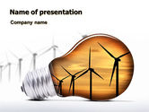 Careers/Industry: Energy Saving Technologies PowerPoint Template #06908