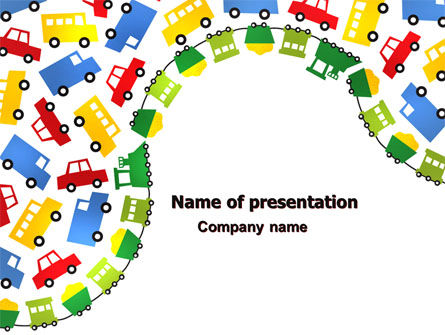 Childish Car Theme PowerPoint Template