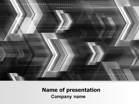 Gray Arrows PowerPoint Template, 06910, Business — PoweredTemplate.com