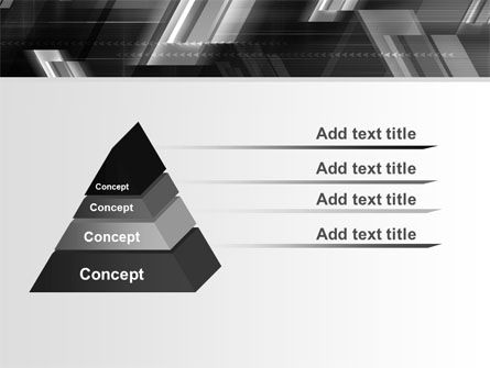 Gray Arrows PowerPoint Template Slide 12