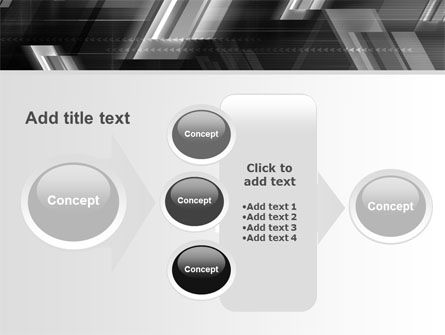 Gray Arrows PowerPoint Template Slide 17