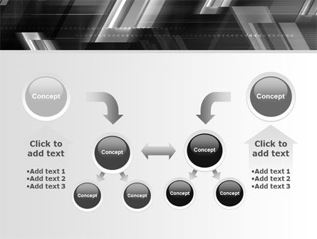 Gray Arrows PowerPoint Template Slide 19