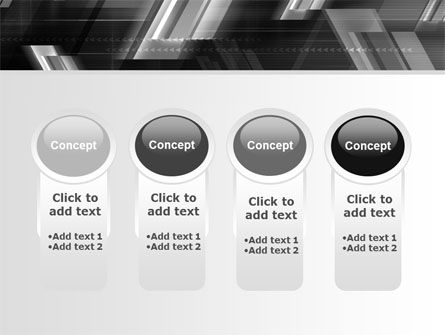 Gray Arrows PowerPoint Template Slide 5