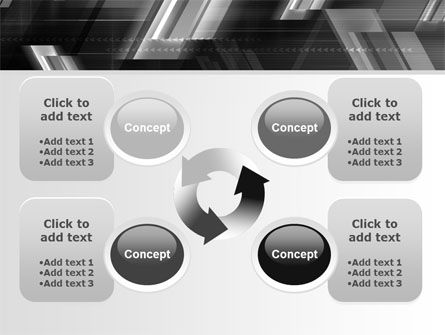 Gray Arrows PowerPoint Template Slide 9