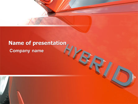hybrid car powerpoint template backgrounds 06911