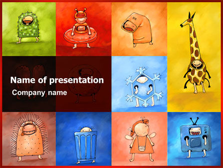 Education & Training: Childish Theme PowerPoint Template #06913
