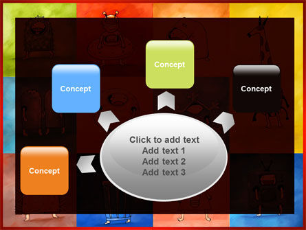 Childish Theme PowerPoint Template Slide 7