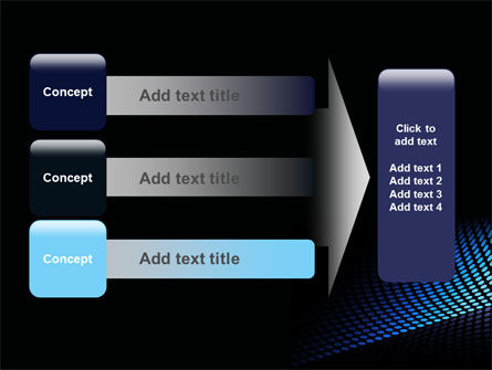 Abstract Blue Grid PowerPoint Template Slide 12