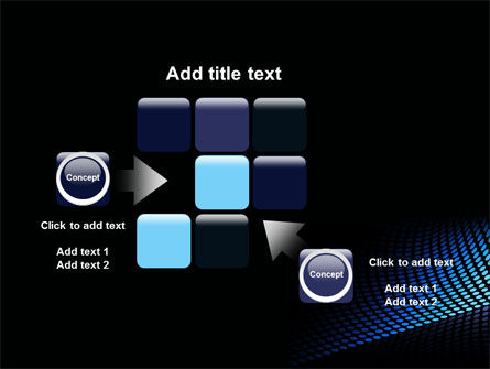 Abstract Blue Grid PowerPoint Template Slide 16