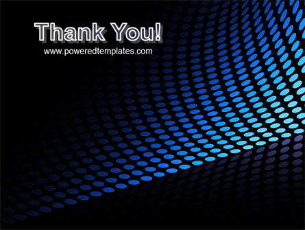 Abstract Blue Grid PowerPoint Template Slide 20