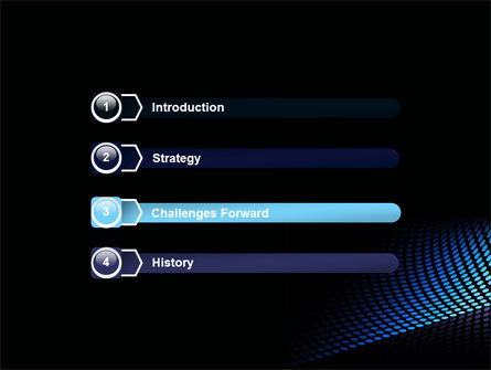 Abstract Blue Grid PowerPoint Template Slide 3