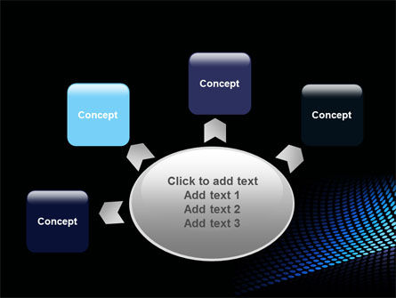Abstract Blue Grid PowerPoint Template Slide 7