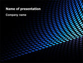 Abstract/Textures: Abstract Blue Grid PowerPoint Template #06914