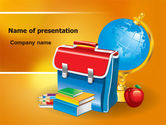 Education & Training: School Bag PowerPoint Template #06920