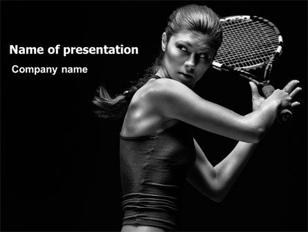 Sports: Tennis Player PowerPoint Template #06921