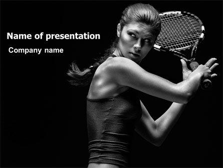 Sports: Modello PowerPoint - Giocatore di tennis #06921