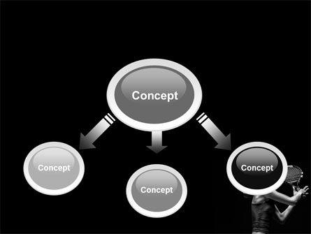 Tennis Player PowerPoint Template, Slide 4, 06921, Sports — PoweredTemplate.com