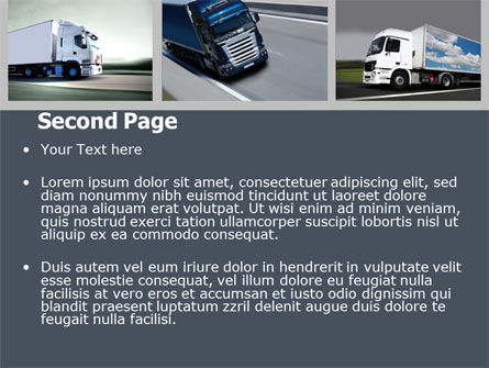 Trailer Trucks PowerPoint Template, Slide 2, 06923, Cars and Transportation — PoweredTemplate.com