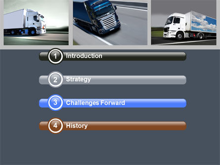 Trailer Trucks PowerPoint Template, Slide 3, 06923, Cars and Transportation — PoweredTemplate.com