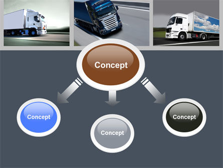 Trailer Trucks PowerPoint Template, Slide 4, 06923, Cars and Transportation — PoweredTemplate.com
