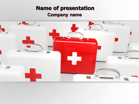 Medical: Emergency Medicine Chest PowerPoint Template #06925