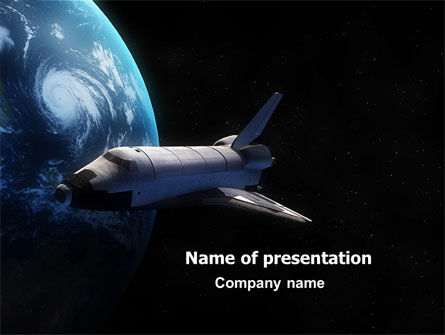 space shuttle powerpoint template, backgrounds | 06926, Powerpoint templates