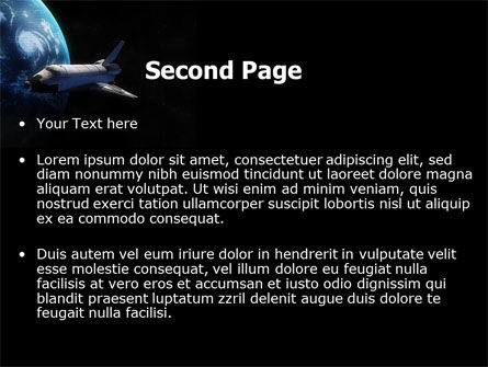 Space Shuttle PowerPoint Template, Slide 2, 06926, Technology and Science — PoweredTemplate.com