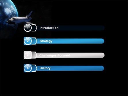 Space Shuttle PowerPoint Template, Slide 3, 06926, Technology and Science — PoweredTemplate.com