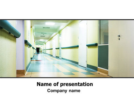 Medical: Plantilla de PowerPoint - pasillo del hospital #06928