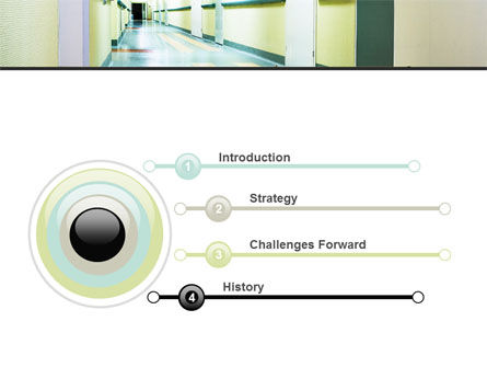 Hospital Hallway PowerPoint Template, Slide 3, 06928, Medical — PoweredTemplate.com