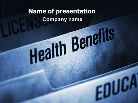 Education & Training: Health Benefits PowerPoint Template #06929