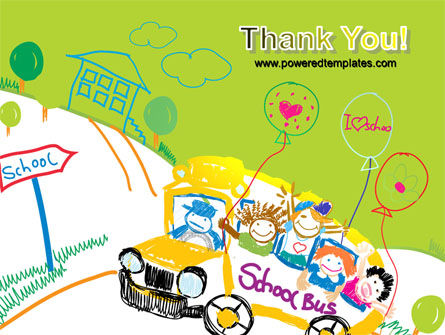 School Bus As Childish Picture PowerPoint Template Slide 20
