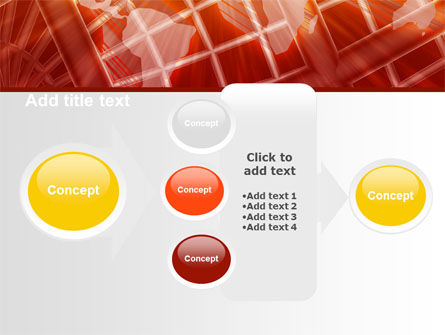 World Overview In Red Yellow Palette PowerPoint Template Slide 17