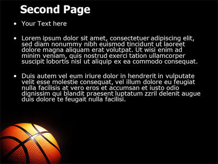 Basketball Ball on NBA Colors Floor PowerPoint Template Slide 2