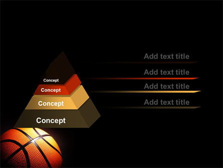 Basketball Ball on NBA Colors Floor PowerPoint Template Slide 4