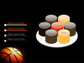 Basketball Ball on NBA Colors Floor PowerPoint Template#12
