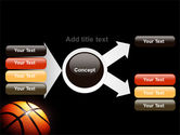 Basketball Ball on NBA Colors Floor PowerPoint Template#15