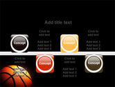 Basketball Ball on NBA Colors Floor PowerPoint Template#18