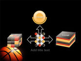 Basketball Ball on NBA Colors Floor PowerPoint Template#19