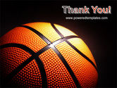 Basketball Ball on NBA Colors Floor PowerPoint Template#20