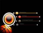 Basketball Ball on NBA Colors Floor PowerPoint Template#3