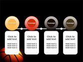 Basketball Ball on NBA Colors Floor PowerPoint Template#5