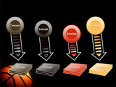 Basketball Ball on NBA Colors Floor PowerPoint Template#8