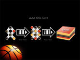 Basketball Ball on NBA Colors Floor PowerPoint Template#9