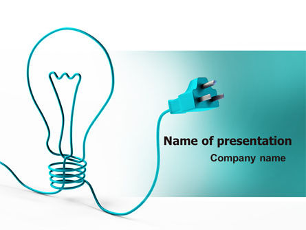 Electric light bulb powerpoint template backgrounds 06935 electric light bulb powerpoint template toneelgroepblik Gallery