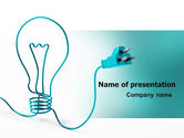 Consulting: Electric Light Bulb PowerPoint Template #06935