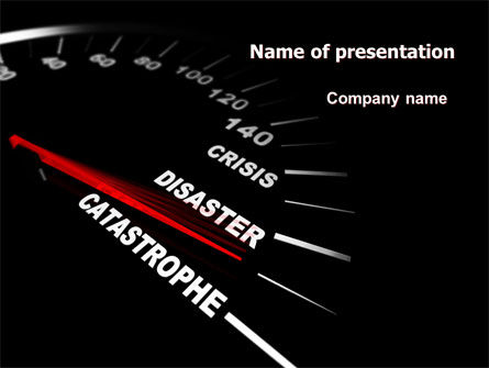 Catastrophe Speedometer PowerPoint Template, 06936, Financial/Accounting — PoweredTemplate.com