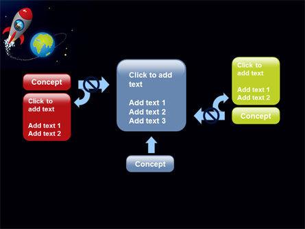 Cartoon Rocket PowerPoint Template Slide 13